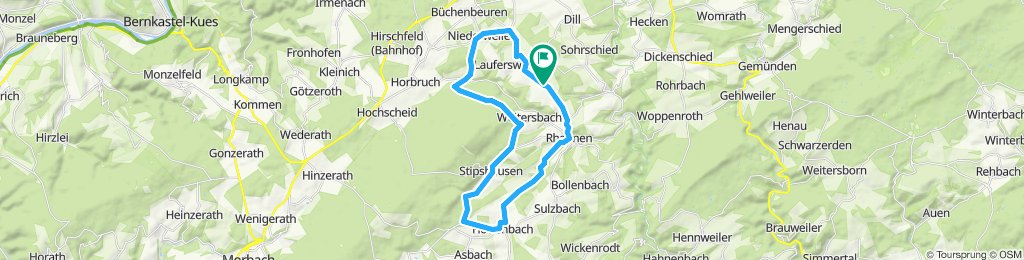 Moderate Route in Gösenroth