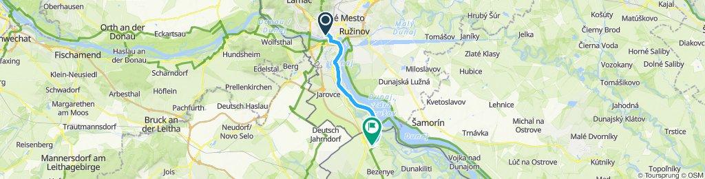 Gemütliche Route in Mosonmagyaróvár