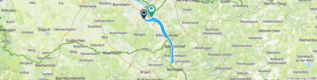 Steady ride in Bonn