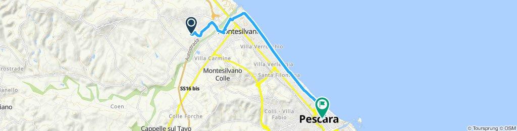 Moderate route in Pescara