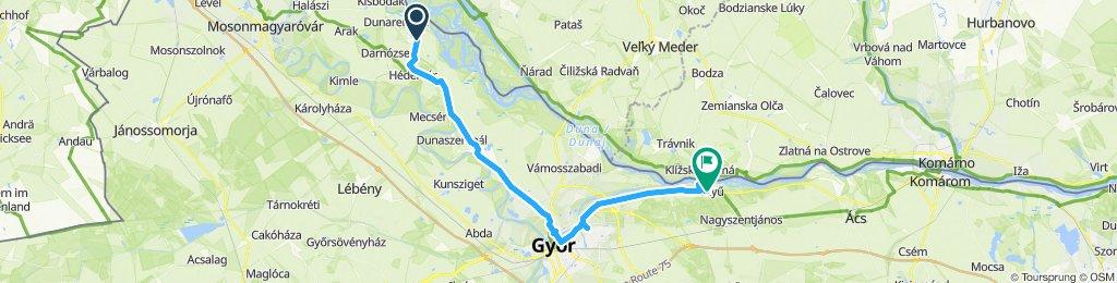 Gemütliche Route in Gönyü
