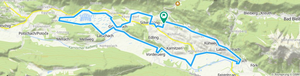 Einfache Fahrt in Sankt Stefan im Gailtal