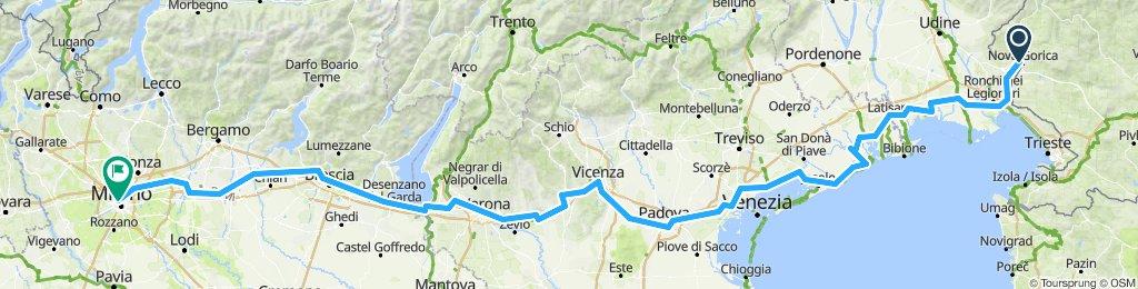 Друга частина подорожі до Мілану.