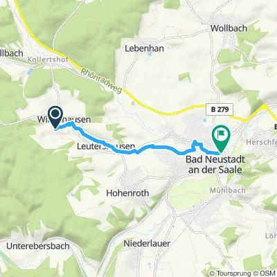 Einfache Fahrt in Bad Neustadt