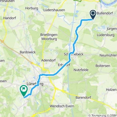 Gerade Fahrt in Lüneburg