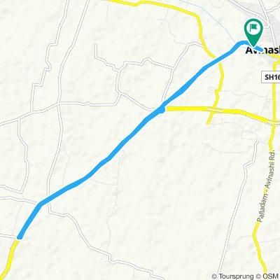 my home to vadugapalayam bridge to home