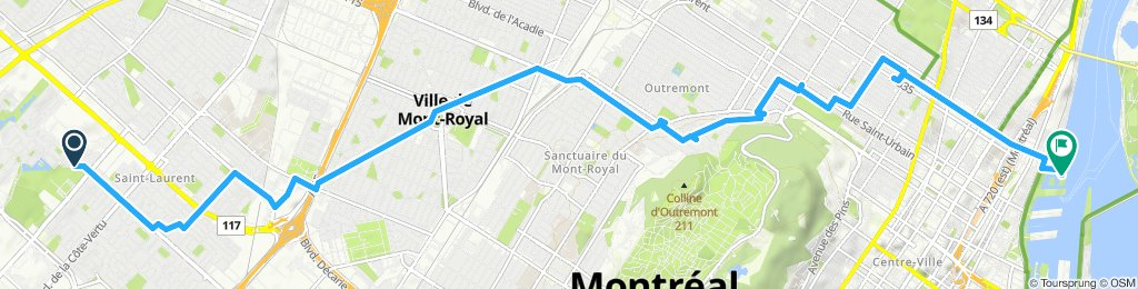 Moderate route in Montréal