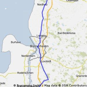 Schwanewede-Cuxhaven-Duhn