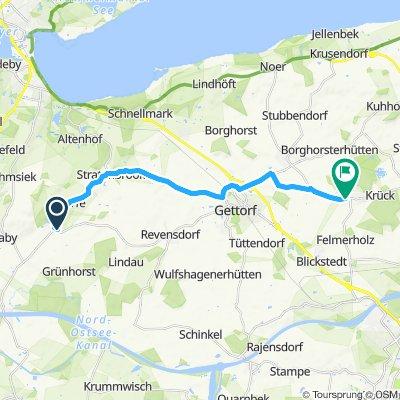 Route im Schneckentempo in Felm