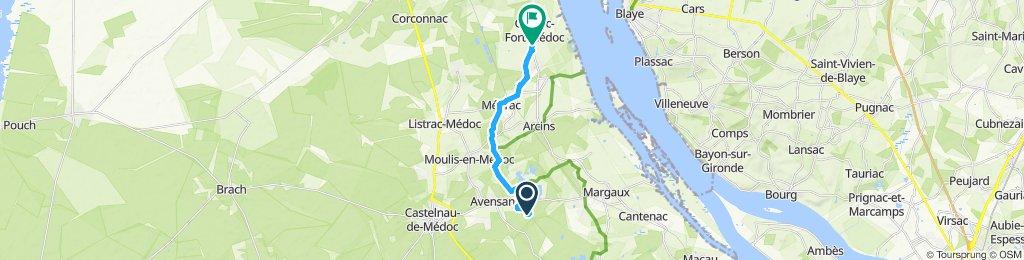 Itinéraire confortable en Cussac-Fort-Médoc