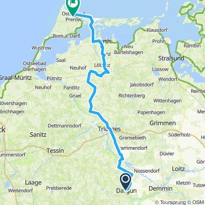 Fahrradtour Falkensee - Prerow ( Tag 3 )