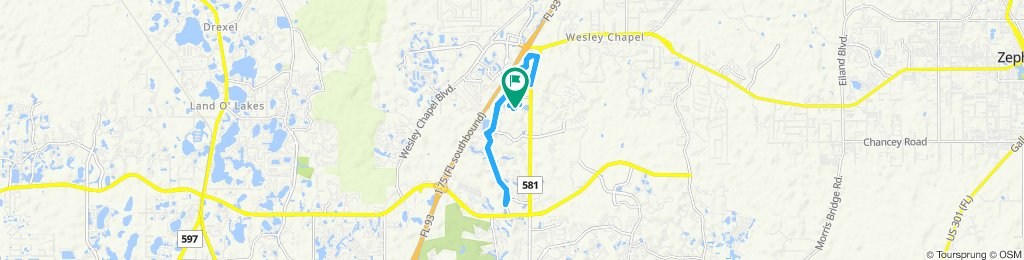 Moderate route in Wesley Chapel