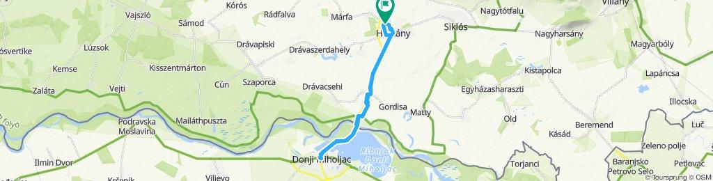 Route im Schneckentempo in Harkány