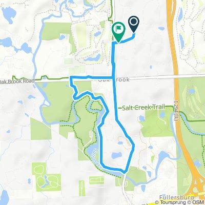Snail-like route in Oak Brook