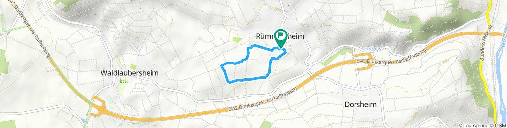 Langsame Fahrt in Rümmelsheim