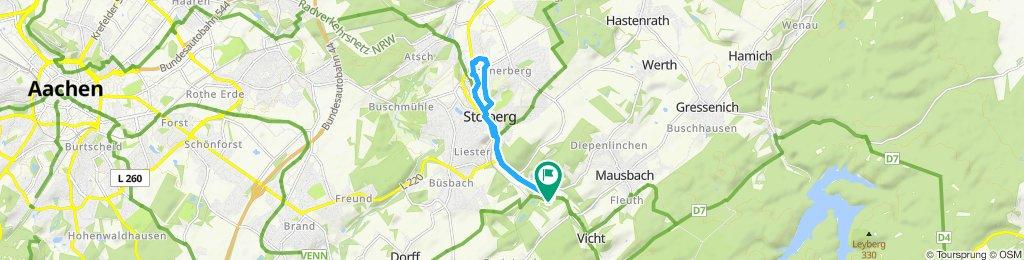 Route im Schneckentempo in Stolberg