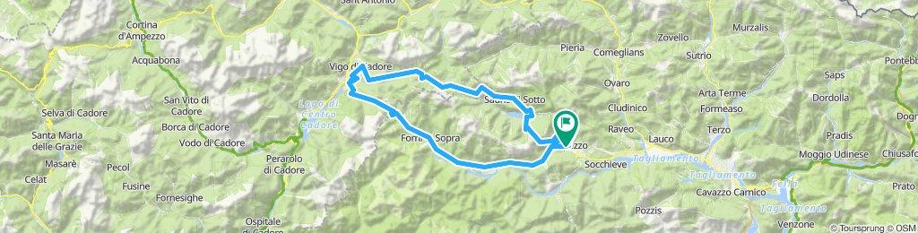 Carnia (passo Mauria - sella di Rioda - passo del Pura - lago di Sauris)