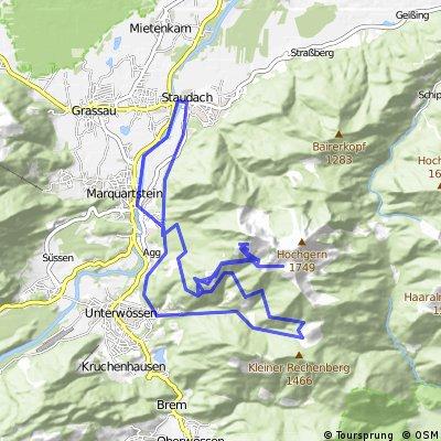 Hochgernhaus (Abstecher zur Gern-Alm) - Jochbergalm - Abfahrt nach Unterwössen