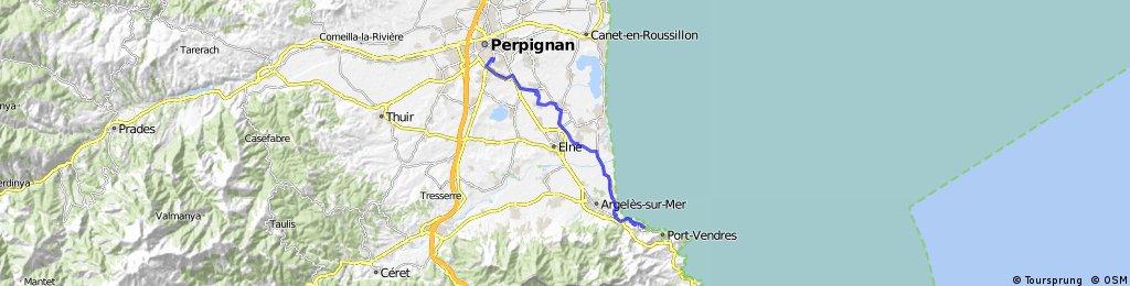 perpignan-collioure | Bikemap - Your bike routes