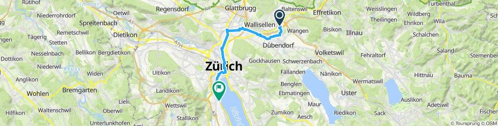 Ruta moderada en Zürich