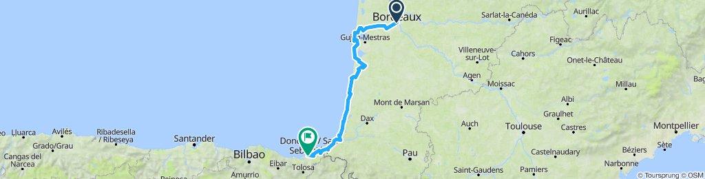 Bordeaux to San Sebastián Sept 2019