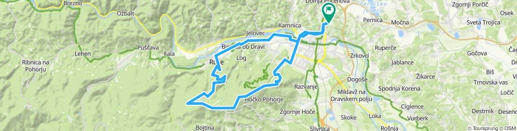 Košaki - Ruše - Lobnica - koča Cojzarica - Areh - MB razglednik - Belvi - Trikotna jasa - Maribor