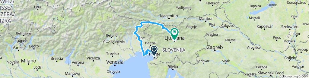 Trieste-Tarvisio-Lubiana