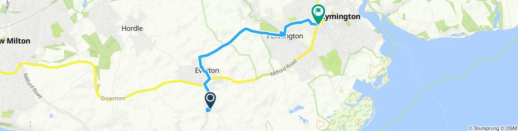 Steady ride in Lymington