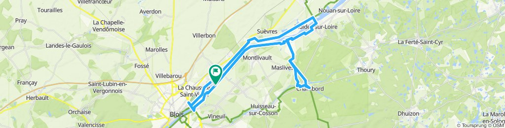 Velolocation Blois to Chateau Chambord ev6