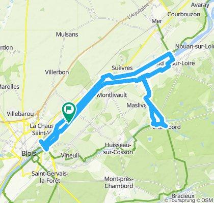 Velolocation Blois to Chateau Chambord ev6