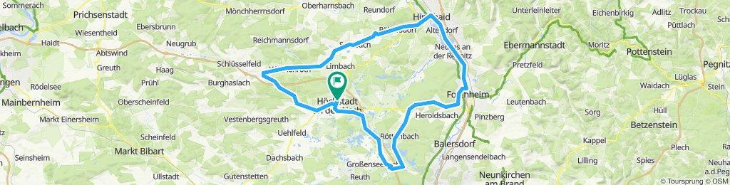 Roundtour Höchstadt-Elsendorf-Hirschaid-Forchheim-Dechsendorf