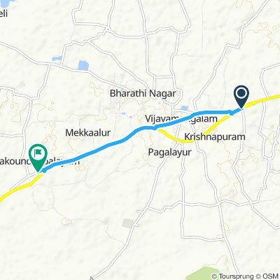 toll to palakoundan route