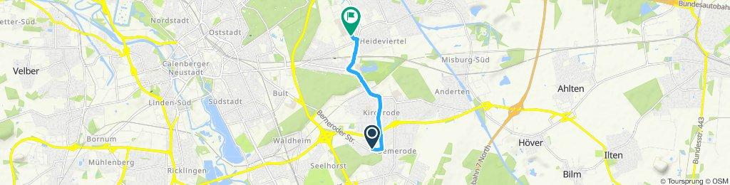 Einfache Fahrt in Hannover