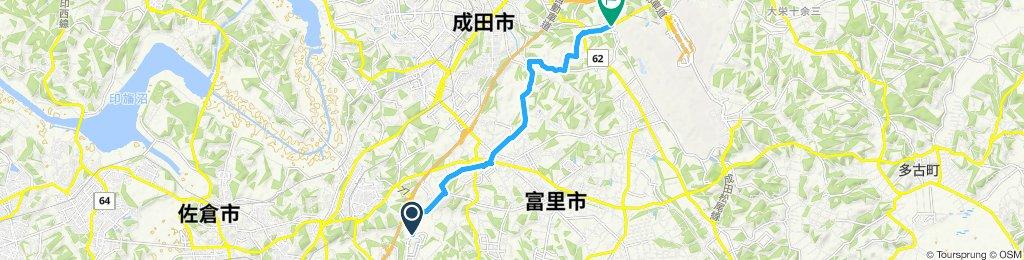 酒々井から成田へ