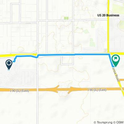 route in Belvidere