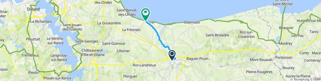 Relaxed route in Dol-de-Bretagne