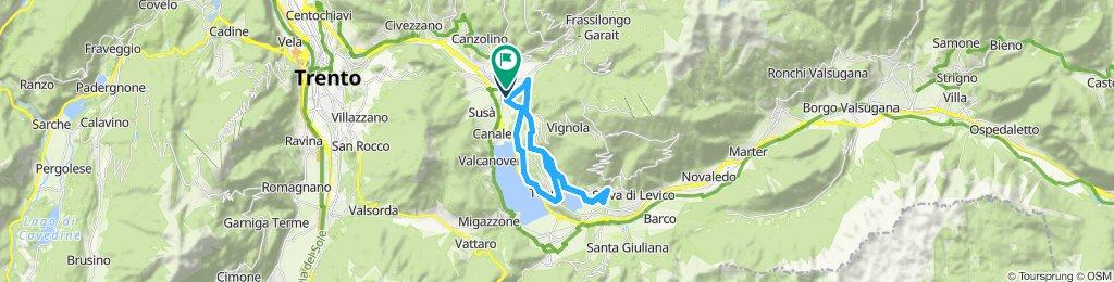 Giro a velocità lenta in Pergine Valsugana
