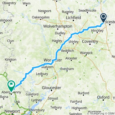 Leicester to Abergavenny!