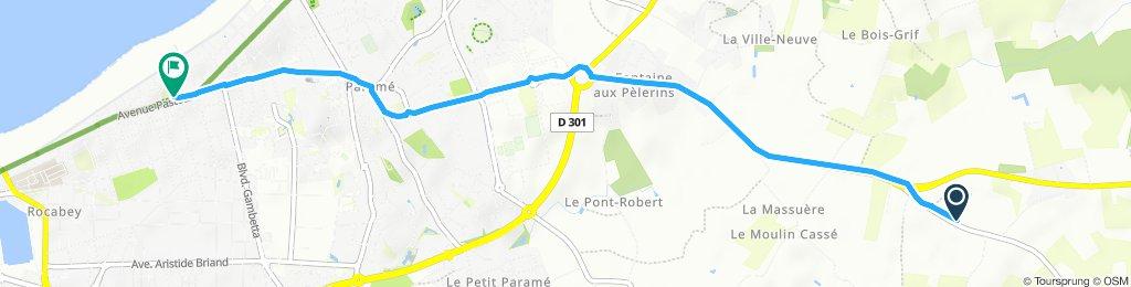 Relaxed route in Saint-Méloir Des Ondes