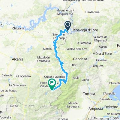 Fayon - Beceite / camino natural Matarraña etapa 1º 98 Km.