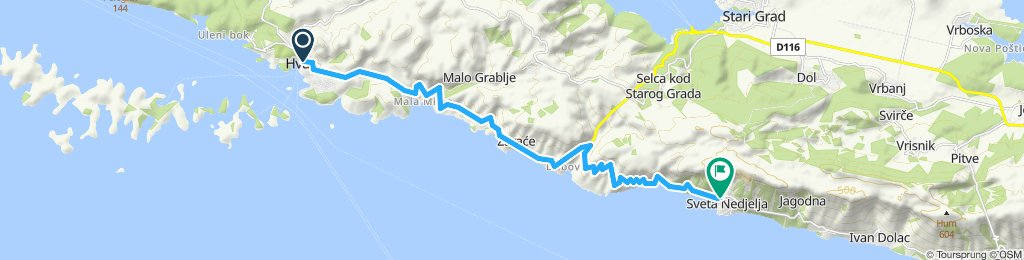 Moderate route in Sveta Nedjeljay