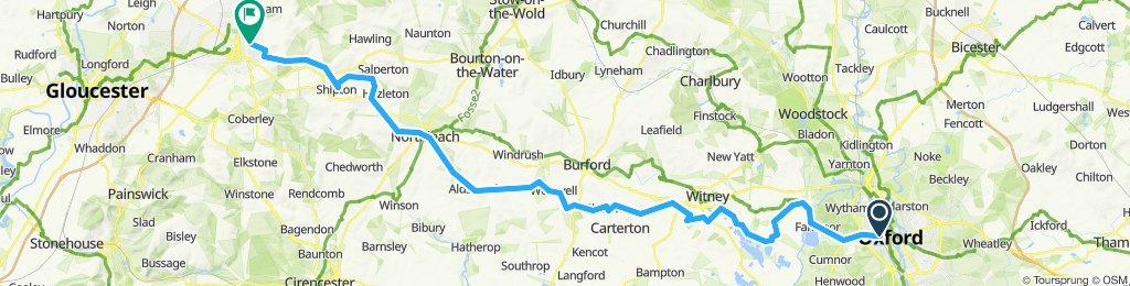 Oxford to Cheltenham