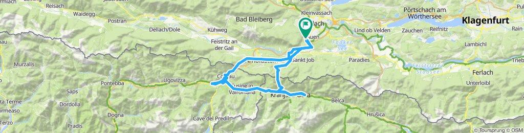 Villach - Tarviso - Kranjska Gora - Oberkrain - zurück über Wurzenpass nach Villach