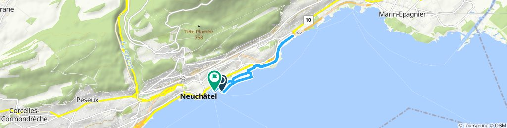 Snail-like route in Neuchâtel