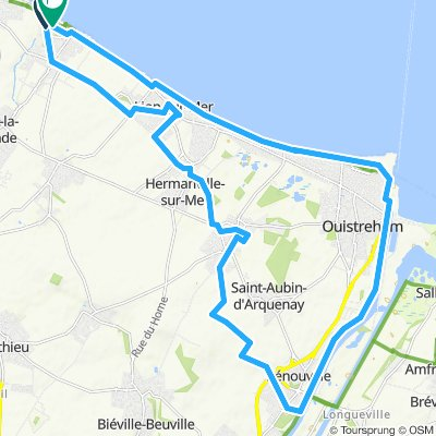 Luc-Sur_Mer 29km rondje Canal