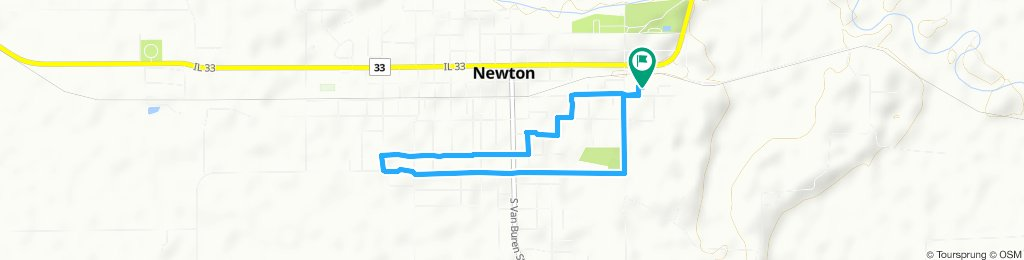 Relaxed route in Newton