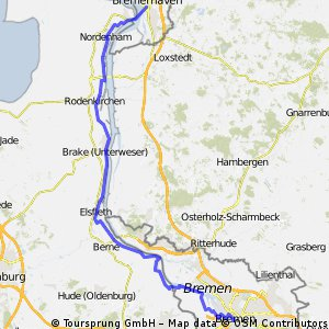 Weser-Radtour: Bremen - Bremerhaven CLONED FROM ROUTE 32