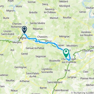 Tour de Base - Étape 6 (Cognac >Châteauneuf sur charente, via La Flow Vélo)