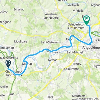 Tour de Base - Étape 7 (Châteauneuf sur charente > Saint-Yrieix-sur-Charente, via La Flow Vélo)
