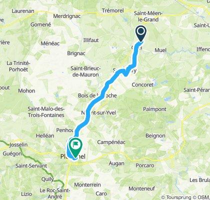 Moderate route in Ploërmel